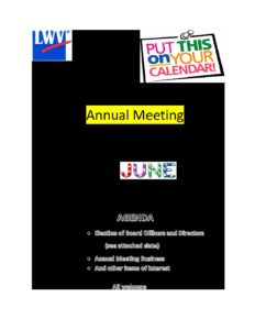 June Membership Meeting via Zoom