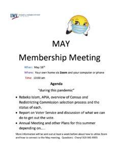 May Membership Meeting on Zoom @ Zoom