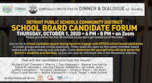 DINNER & DIALOGUE <I>at home</I>: Virtual School Board Candidate Forum @ On Zoom
