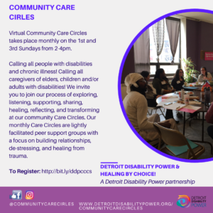 Community Care Circles (Virtual) @ ZOOM
