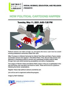 Political Cartoons Webinar⏤DPL/LWV Collaborative Series @ zoom